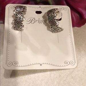 Brighton Alcazar Heart Hoop Earrings Silver